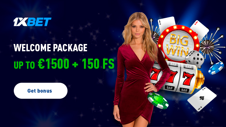 Welcome Package Up to €1500 + 150 Free Spins